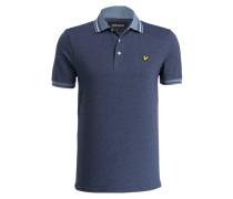 Piqué-Poloshirt - blau/ hellblau