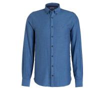 Flanellhemd New York-Fit - blau