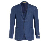 Sakko KEI Slim-Fit mit Leinenanteil - blau
