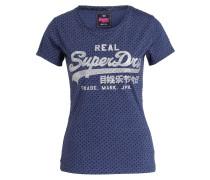 T-Shirt - blau/ schwarz/ altsilber