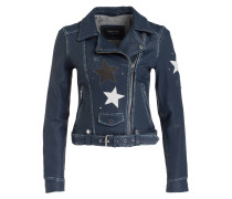 Lederjacke COURTNEY - blau