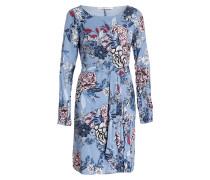 Kleid BEGONIA - blaugrau/ schwarz/ weiss