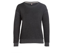 Sweatshirt BURNOUT - dunkelgru meliert