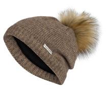 Mütze mit Kunstpelzbommel