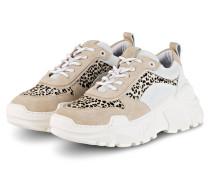 Plateau-Sneaker - WEISS/ BEIGE