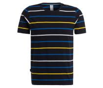 T-Shirt ALVIN - navy/ gelb/ gestreift