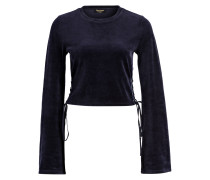 Cropped-Pullover aus Samt