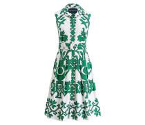 Kleid AUDREY - weiss/ grün/ marine