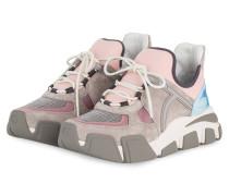 Plateau-Sneaker - GRAU/ ROSA