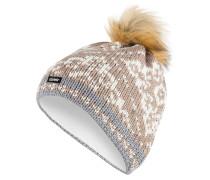 Mütze DALIA mit Kunstpelzbommel