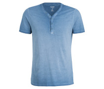 Henley-Shirt Level Five body fit - blau
