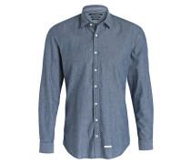 Hemd Shaped-Fit - blaugrau meliert