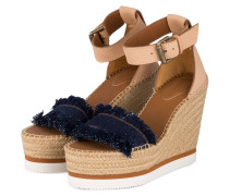 Wedges GLYN FRINGED - BLAU/ BEIGE