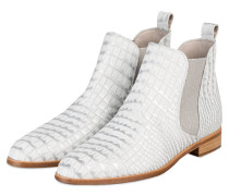 Chelsea-Boots - WEISS/ SILBER