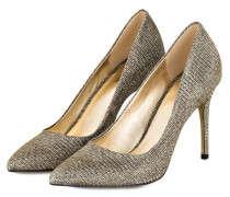 Pumps CLAIRE - BLACK/ GOLD GLITTER