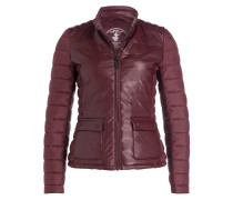 Steppjacke - bordeaux