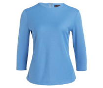 Shirt mit 3/4-Arm - blau