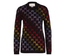 Pullover mit Strasssteinbesatz
