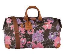 Reisetasche LIFE - braun/ dunkelgrün/ rosa