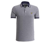 Piqué-Poloshirt - navy/ weiss