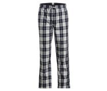Pyjamahose - blau/ weiss/ grau