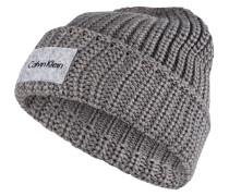 Grobstrick-Mütze - grau