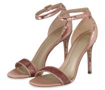 Sandaletten mit Paillettenbesatz