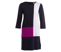 Kleid CINDY - dunkelblau/ grau/ violett