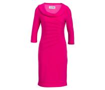 Kleid mit Raffungen - pink