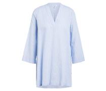 Oversized-Blusenshirt mit Leinen