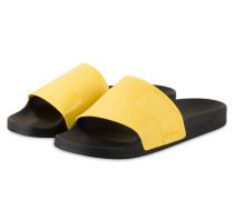 Sandalen ADILETTE - schwarz/ gelb