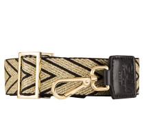 Schulterriemen - gold/ schwarz