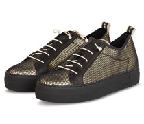 Plateau-Sneaker - SCHWARZ/ GOLD