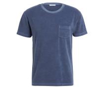 Frottee-Shirt - blaugrau