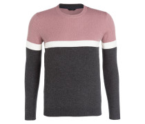 Pullover - anthrazit/ mauve/ wollweiss