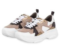 Sneaker CLOUD - TAUPE/ WEISS/ DUNKELBRAUN