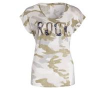 T-Shirt WILD - grau/ oliv/ offwhite