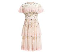 Kleid mit Paillettenbesatz - hellrosa