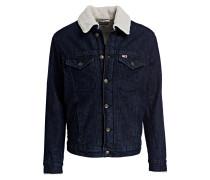 Jeansjacke mit Kunstfellfutter