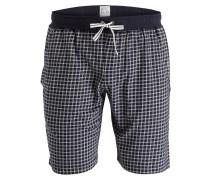 Sleep-Shorts - navy/ sand