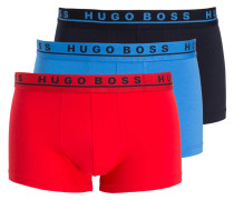 3er-Pack Boxershorts - rot/ hellblau/ navy