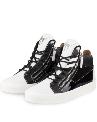 Giuseppe Zanotti Herren Hightop-Sneaker - SCHWARZ/ WEISS Billig Verkauf Outlet-Store Nett 1i4PJrD0