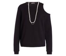 Sweatshirt mit Perlenkette