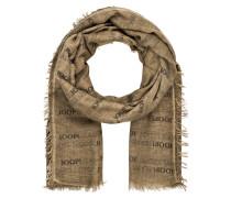 Schal - braun meliert