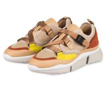 Sneaker SONNIE LOW - CAMEL/ BEIGE/ GELB