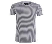 T-Shirt - dunkelblau/ weiss