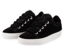 Samt-Sneaker AZUR - schwarz