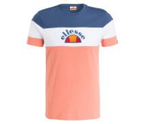 T-Shirt - lachs/ weiss/ navy