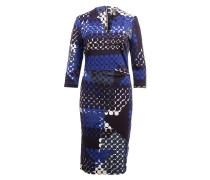 Kleid GINNY - dunkelblau/ blau/ weiss