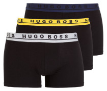 3er-Pack Boxershorts - schwarz